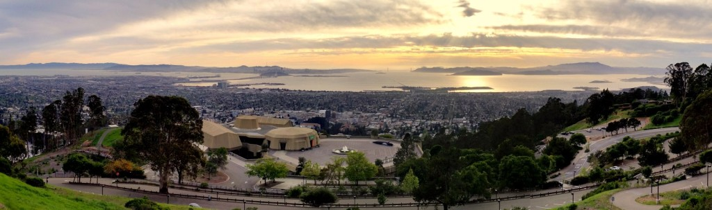 The view of San Francisco Bay from the steps of MSRI.