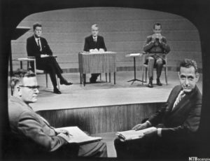 JFK and Nixon at 1960 debate